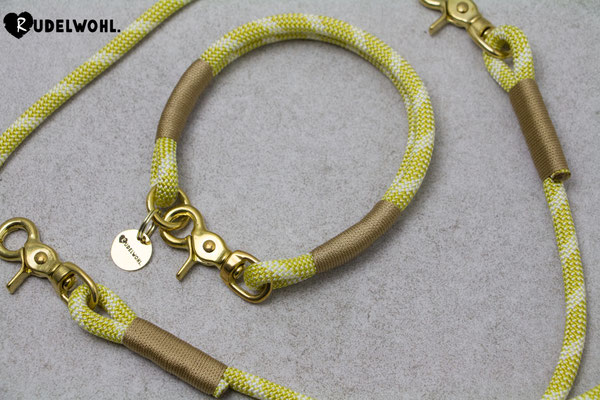 "Kletterseil ""Honeybee"" mit Takelung Gold"