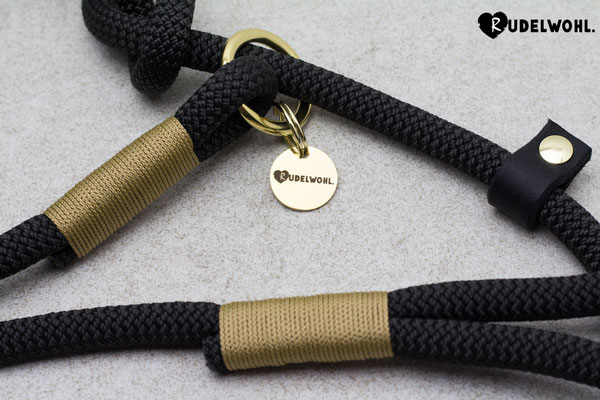 "Kletterseil ""Black Night"" mit Takelung Gold"