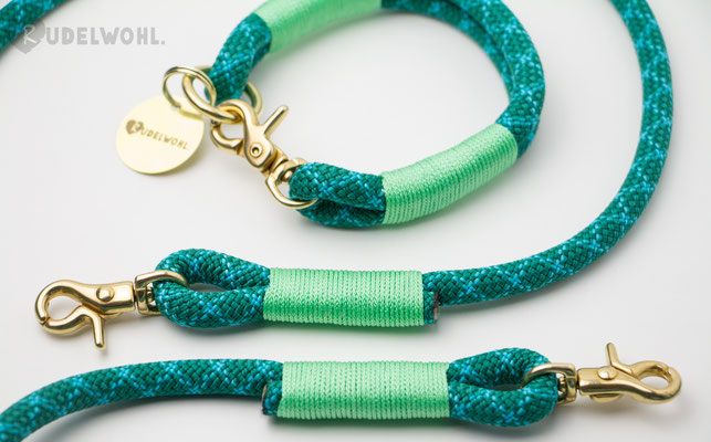 """Kletterseil """"Turquoise Water"""" mit Takelung Mint"""
