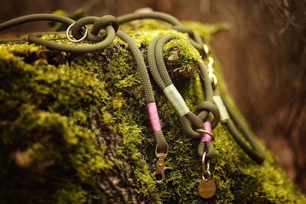 """Kletterseil """"Forrest"""" mit Takelung Glanz Minze & Glanz Orchidee"""