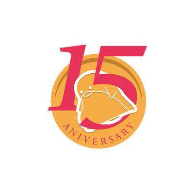 はらぺこペンギン!15周年記念ロゴ