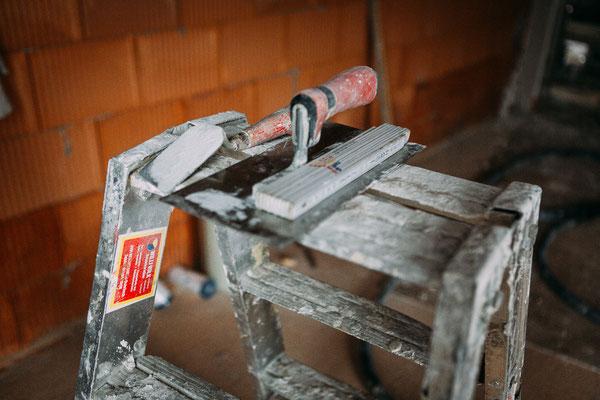 Businessfotos im Odenwald - Fotografie für Unternehmen - Kelle auf Leiter