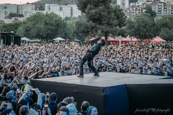 Eventfotografie - Konzertfotos - Kai Hansen von Gamma Ray beim Rockfest Barcelona