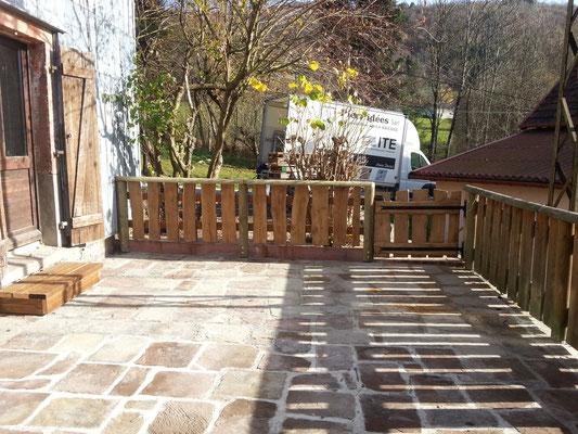 Travaux de terrasses en pierre