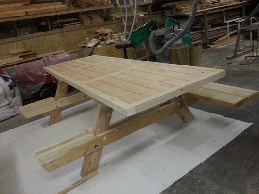 Fabrication d'une table de jardin