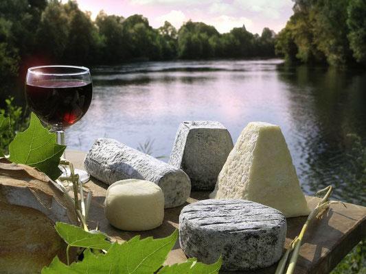 Fromages de chèvre et vins AOC