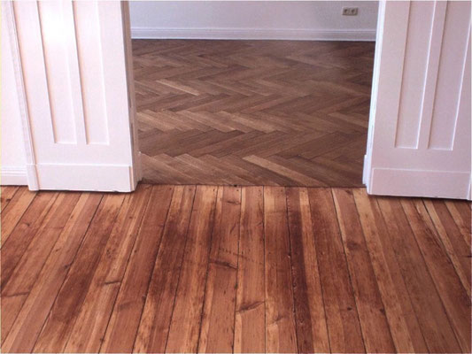 Floorboards and parquet with hard oil