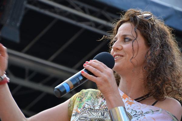 Moderatorin Adriane Gamper