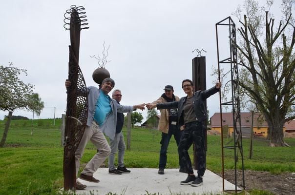 v.l.n.re.: Mirko Siakkou-Flodin, Piepe, Dr. Dietmar Hawran, Markus Meyer, Diana Hessenthaler