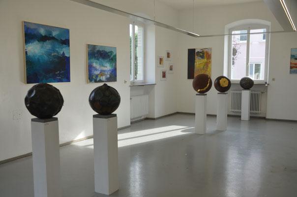 """2020 Gemeinschaftsausstellung im Kunstbahnhof in Wasserburg """"4 Künstler - 3 Räume"""""""