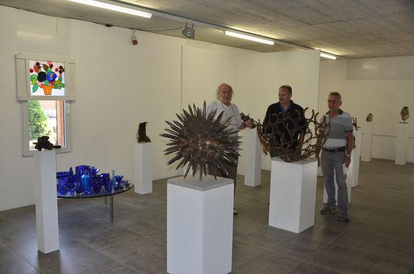 2016 Eggenschwiler Stiftungshaus, Eriswil, CH,  mit Horst Egger und Heinz Allemann (v.l.)