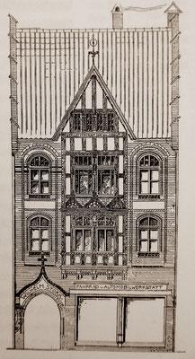 Stork Entwurfzeichnung zum Hausbau,etwa 1906