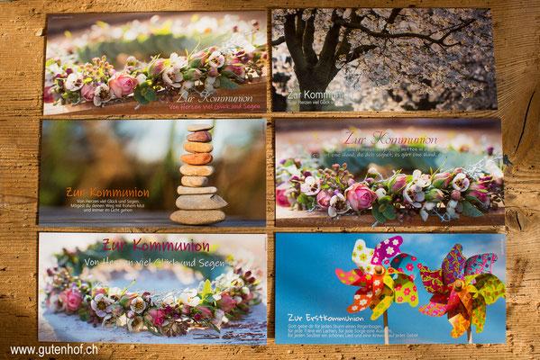 Kommunion, Postkarten, Glückwunschkarten, Erstkommunion, Karten, bestellen, Schweiz, Kartenshop, Shop, Spruchkarten, Fotokarten,