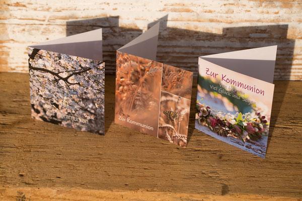 Kommunion, Erstkommunion, Glückwunschkarten, kindgerecht, Kommunionkarten, Spruch zur Kommunion, Sprüche zur Kommunion.