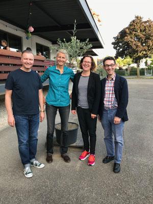 Ralf Schmidt, Kirsty Meyer, Kristina Diehl, Prof. Elmar Gräßel