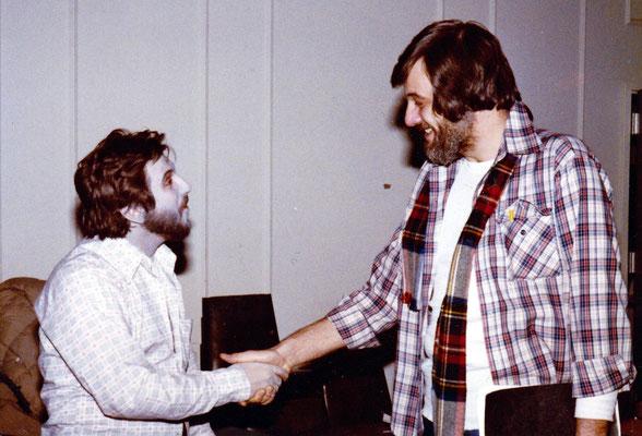 Bob Michelucci und George Romero am Set von DAWN OF THE DEAD