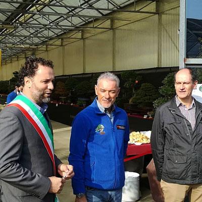 Il vicesindaco di Cernusco sul Naviglio Daniele Restelli, Edoardo Losio, Giovanni Cattaneo