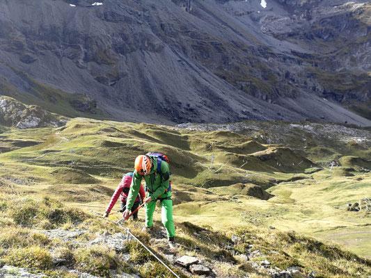 Klettersteig Graustock : Klettersteig graustock scbrunnen