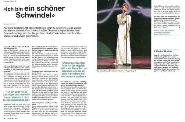Interview im Schweizer Magazin CRUISER 2015