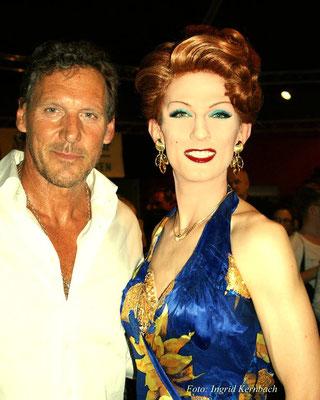 mit Ralf Moeller bei der HAIRSPRAY Premiere in München