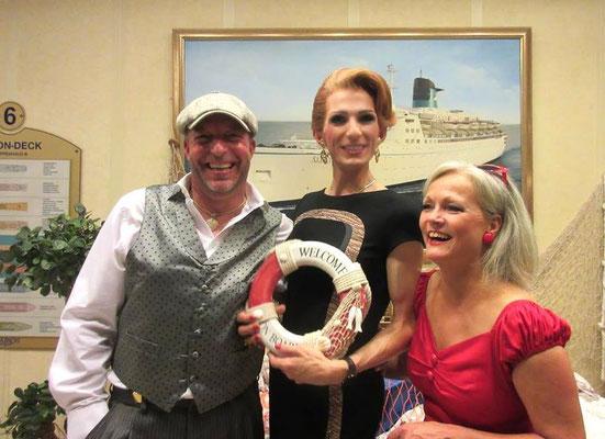 mit den Entertainern Jill Morris und Pascal Marshall auf der MS Albatros 2015