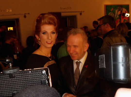mit Jean Paul Gaultier bei der AIDS Gala 2014 im Theater des Westens in Berlin