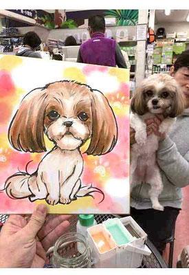 似顔絵 愛犬 ペット