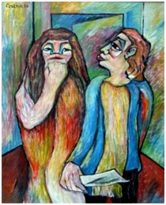 Dichter und Muse  2006  75 x 100