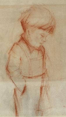 Franz-Josef ( Sohn )  1948  13,5 x 22 ( Rötel )
