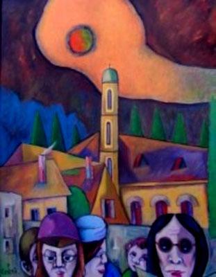 Slowenisches Dorf  2007  88 x 108