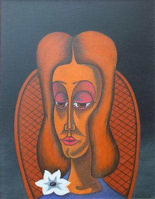 Mädchen Bildnis  2002  70 x 90