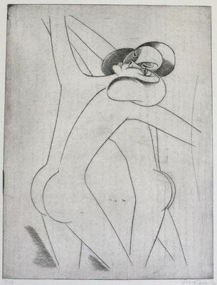 Nacktes Tanzpaar  1981  30 x 39,5