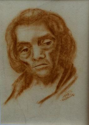 Tante Mina  1947  26 x 36 ( Kreide )