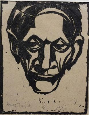 Alter Mann aus Altersheim  1948  16 x 20