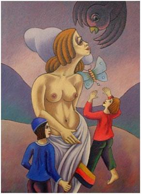 Mutter mit Kindern II  1997  95 x 130