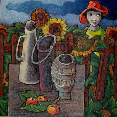 Garten mit Kind  1983  95 x 95