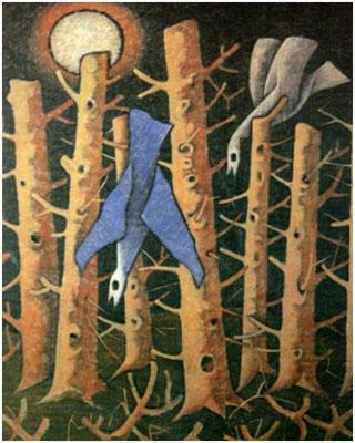 Zerstörter Wald  1984    80 x 110