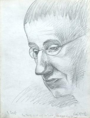Bertold Brecht  1966  30 x 40 ( Blei )