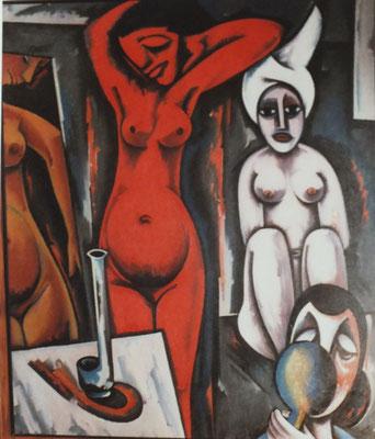 Roter Akt  1970    129 x 153  Eigentum Neue Münchner Galerie