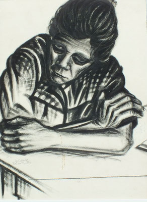 Mutter ( Johanne )  1947  35 x 47 (Tusche )
