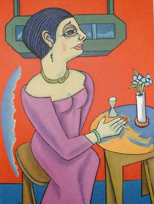 Damen Bildnis  2002  75 x 100