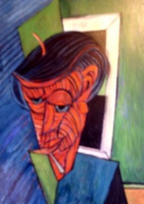 Mann mit Baskenmütze  2009  85 x 115