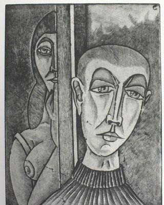 Am Fenster  1992  30 x 39    ( 1 )