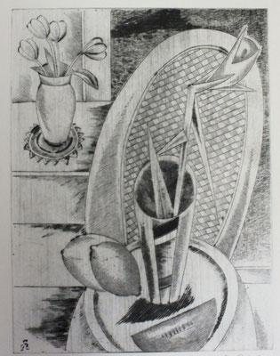 Stillleben mit Exotischer Blume  1996  30 x 39,5      ( 3 )