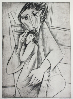 Mutter mit Kind  1966  40 x 55,5