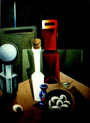 Atelierstillleben mit Eiern  1980    78 x 99