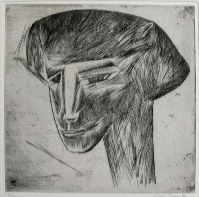 Porträt A I  1972  30 x 30        ( 2 )