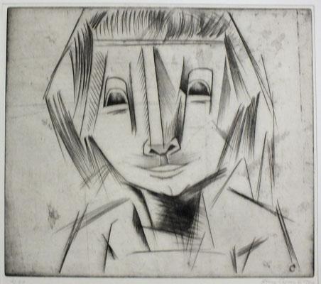 Unruhiger Kopf ( Krankes Mädchen )  1966  34 x 30     ( 2 )