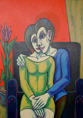 Auf dem Sofa  1999  85 x 115