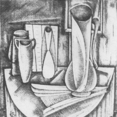 Stillleben mit Vasen  1960    30 x 30,5